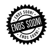 Ends Soon rubber stamp Stock Images