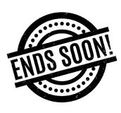 Ends Soon rubber stamp Stock Photos