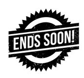 Ends Soon rubber stamp Royalty Free Stock Photos