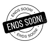 Ends Soon rubber stamp Stock Photo