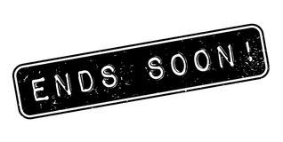 Ends Soon rubber stamp Stock Photography