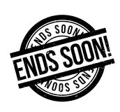 Ends Soon rubber stamp Royalty Free Stock Image