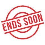 Ends Soon rubber stamp Royalty Free Stock Photo