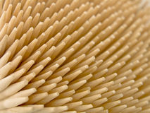 Ends of wooden toothpicks Royalty Free Stock Photo