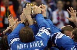 Endspiel auf IIHF Weltmeisterschaft, Slowakei Stockbilder
