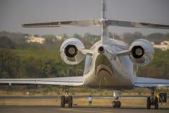 Endstück des Geschäftsflugzeugs Lizenzfreies Stockbild