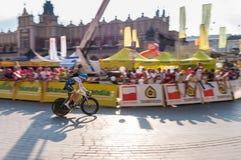 Endstadium der Polen-Rundfahrt in Krakau Lizenzfreie Stockbilder
