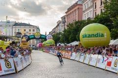 Endstadium der Polen-Rundfahrt in Krakau Stockfotos