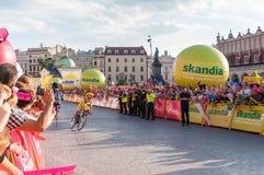 Endstadium der Polen-Rundfahrt in Krakau Stockfotografie