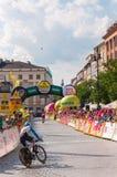 Endstadium der Polen-Rundfahrt in Krakau Lizenzfreies Stockfoto