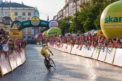 Endstadium der Polen-Rundfahrt in Krakau Lizenzfreie Stockfotografie