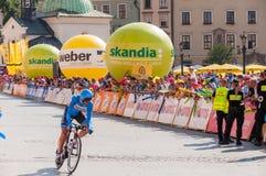 Endstadium der Polen-Rundfahrt in Krakau stockfoto