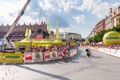 Endstadium der Polen-Rundfahrt in Krakau Lizenzfreies Stockbild