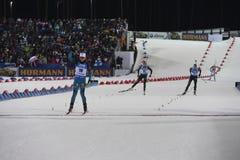 Endstadium IX des Biathlon-Weltcup IBU BMW 24 03 2018 lizenzfreies stockfoto