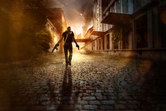Endtime. The last time on earth stock image