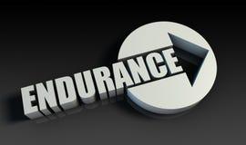 Endurance. Concept With an Arrow Going Upwards 3D Royalty Free Stock Photos