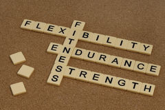 Endurance, flexibility, strength  - fitness Stock Photography