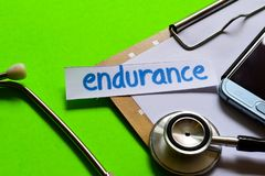Endurance on Healthcare concept with green background royalty free stock photo