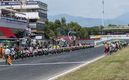 ENDURANCE 24 HOURS MOTO RACE - CATALUNYA Stock Images