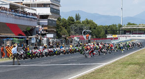 ENDURANCE 24 HOURS MOTO RACE - CATALUNYA Royalty Free Stock Photo