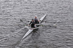 612endurance races in the Head of Charles Regatta Men's Master Doubles Stock Photography