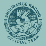 Endurance racing team. Vector artwork for children wear in custom colors, grunge effect in separate layer vector illustration