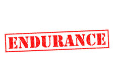 ENDURANCE. Red Rubber Stamp over a white background Royalty Free Stock Photography