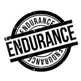 Endurance rubber stamp. Grunge design with dust scratches. Effects can be easily removed for a clean, crisp look. Color is easily changed Stock Images