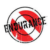 Endurance rubber stamp. Grunge design with dust scratches. Effects can be easily removed for a clean, crisp look. Color is easily changed Royalty Free Stock Photo
