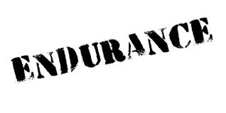 Endurance rubber stamp. Grunge design with dust scratches. Effects can be easily removed for a clean, crisp look. Color is easily changed Stock Photography