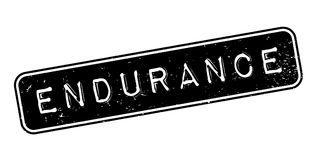 Endurance rubber stamp. Grunge design with dust scratches. Effects can be easily removed for a clean, crisp look. Color is easily changed Stock Photo