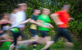 Endurance runners in group Royalty Free Stock Photography
