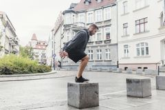 Endurance training in an urban space. Stock Photography