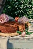 Endureça na decoração dos frutos e das flores Foto de Stock