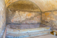 The Enduring Artwork and Design of Herculaneum. A bath house to entertain the wealthy Stock Images