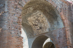 The Enduring Artwork and Design of Herculaneum. Beautiful decor adorn this archway Royalty Free Stock Images