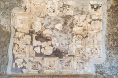 The Enduring Artwork and Design of Herculaneum. Beautiful decoration adorn the homes of the wealthy Stock Photo