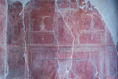 The Enduring Artwork and Design of Herculaneum. Beautiful frescos adorn the homes of the wealthy Stock Images