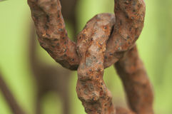 Rusty Chain Link Stock Photography