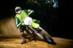 Enduro bike rider Stock Photo
