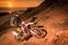 Enduro bike rider Stock Photos