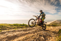 Enduro bike rider Stock Photos
