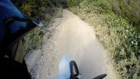 Enduro bike rider POV stock video