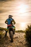 Enduro bike rider Royalty Free Stock Photos