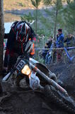 Enduro bikes and racers Royalty Free Stock Image