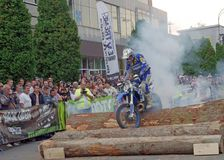 Enduro burnout Stock Images