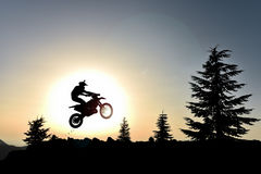 Enduro cross motorcycle Stock Photo