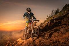 Enduro Fahrradreiter Lizenzfreies Stockbild