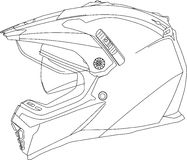 Enduro Helmet. Image to categorize contents of a webshop selling articles for bikers Stock Images