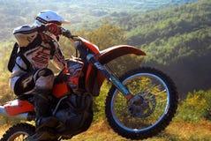 Enduro jeździec Obrazy Stock